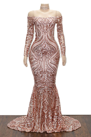 The MALINA Sequins Gown- Available in 6 colors
