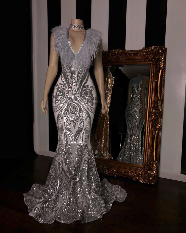 The JANAYA Sequins Gown (2399089983572)