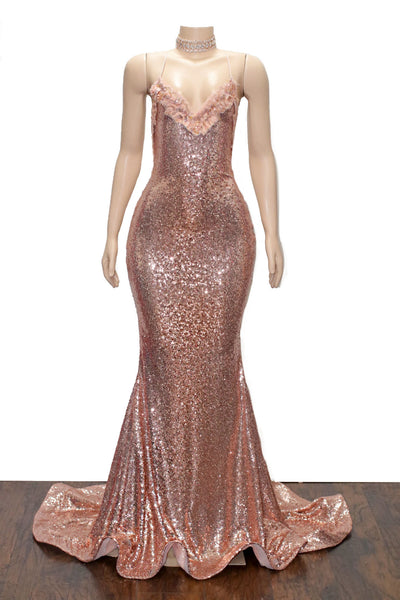 The MILLY Sequins Lace Gown- Available in 5 colors