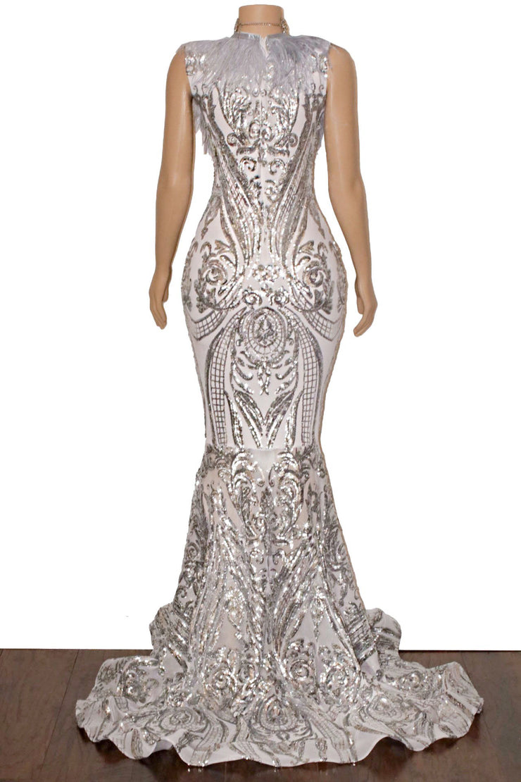 The JANAYA Sequins Gown
