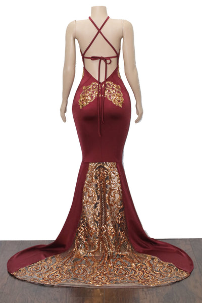 The TOO MUCH GOLD Gown- Available in 6 colors