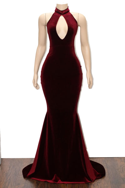 The ZAYDA Velvet Gown- available in 6 colors