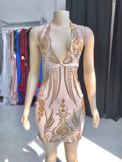 The Jamie Dress- Gold
