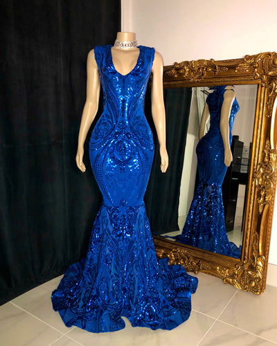 The JANAYA Royal Blue Gown