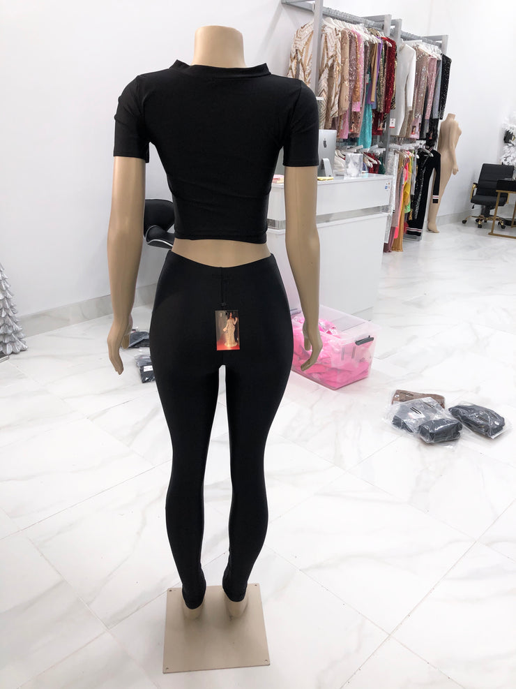 Black Legging Set