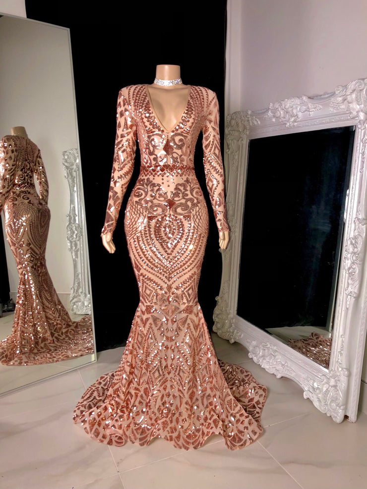 The Talisha Sequin Gown