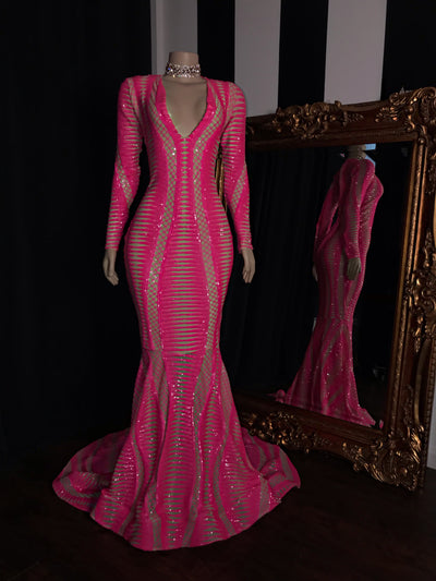 The EVANIE Sequins Gown (2349788692564)