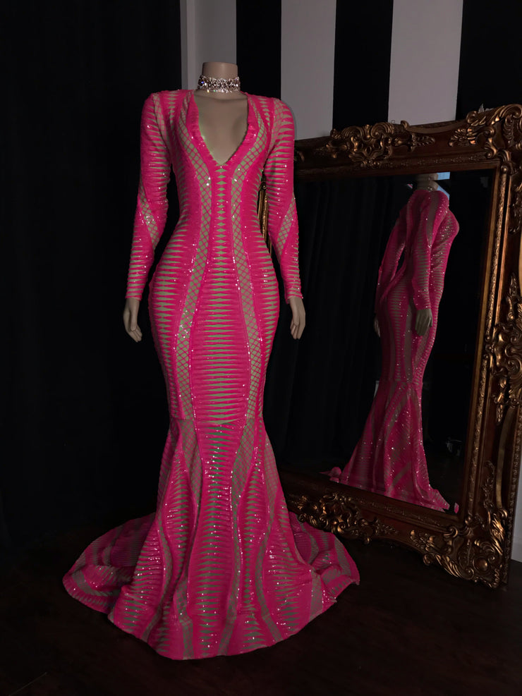 The EVANIE Sequins Gown
