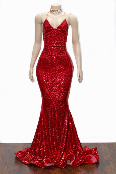 The JANAYA Sequins Gown- Available 11 colors
