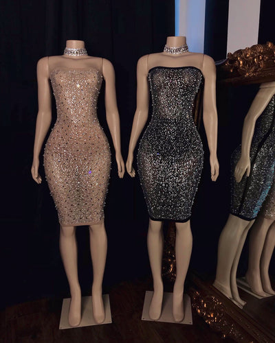 The RENE Rhinestone Dress