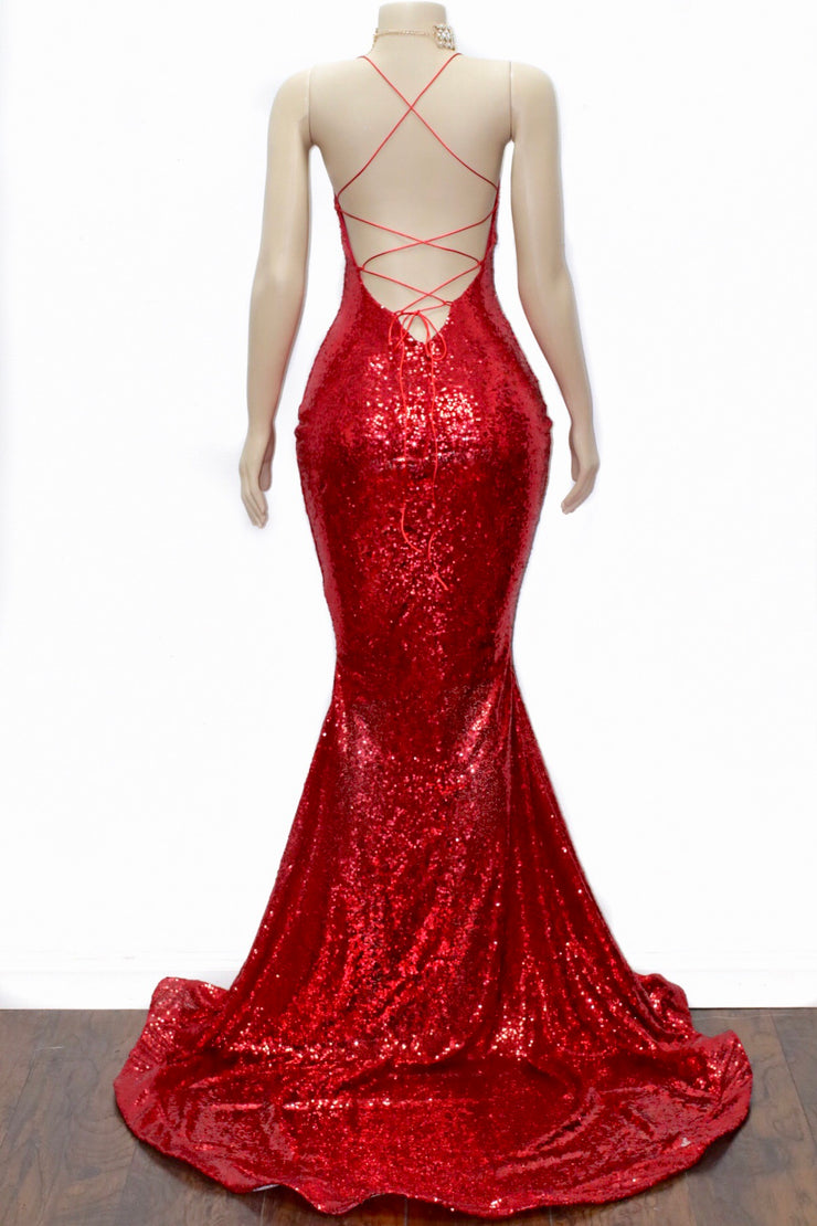 The MILLY Sequins Gown (1322246602836)
