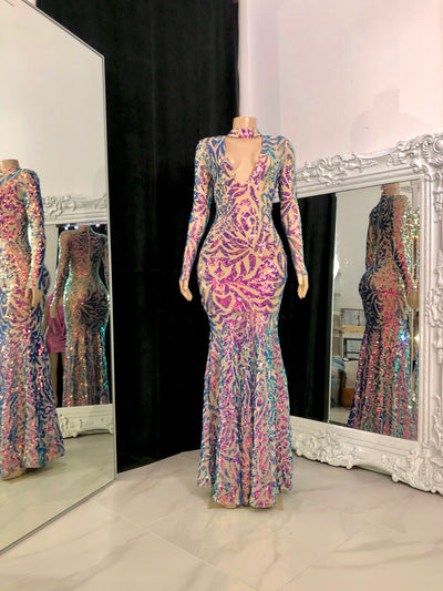 The CELESTE Sequin Gown