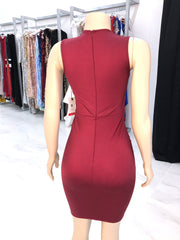 Sample: Burgundy/Gold Sequins Dress