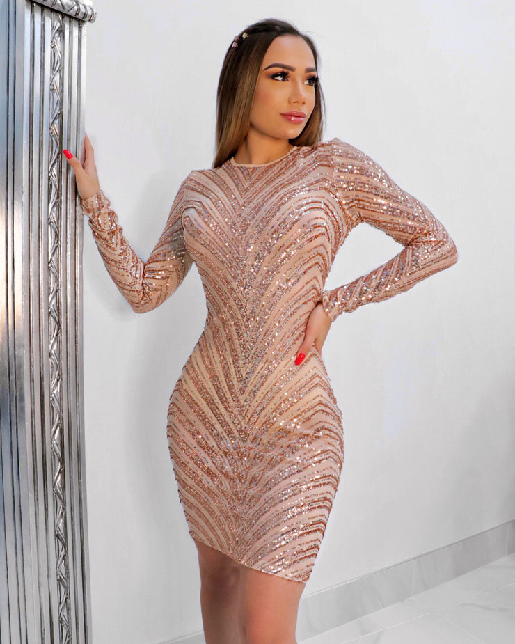 The GINA Sequins Dress (4122455441492)