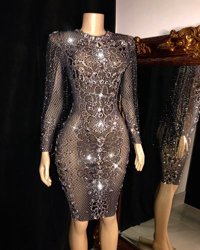 The VIVA Rhinestone Dress (4462403977300)