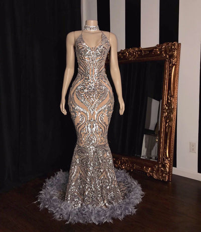 The AALIYAH Sequins Gown (4291956244564)