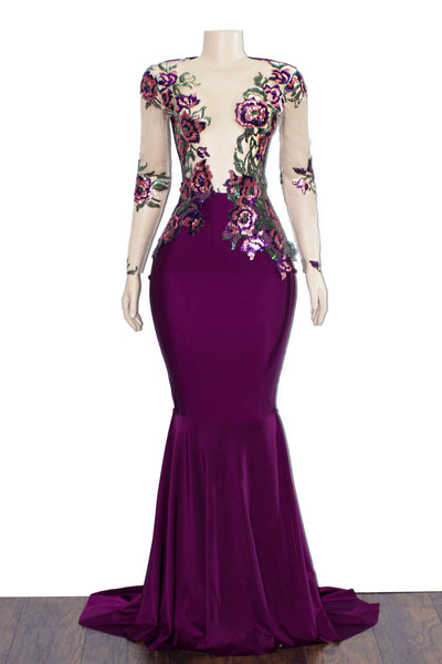 The PURPLE RAIN Gown- Available in 4 Colors