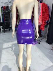 Purple Vinyl Skirt