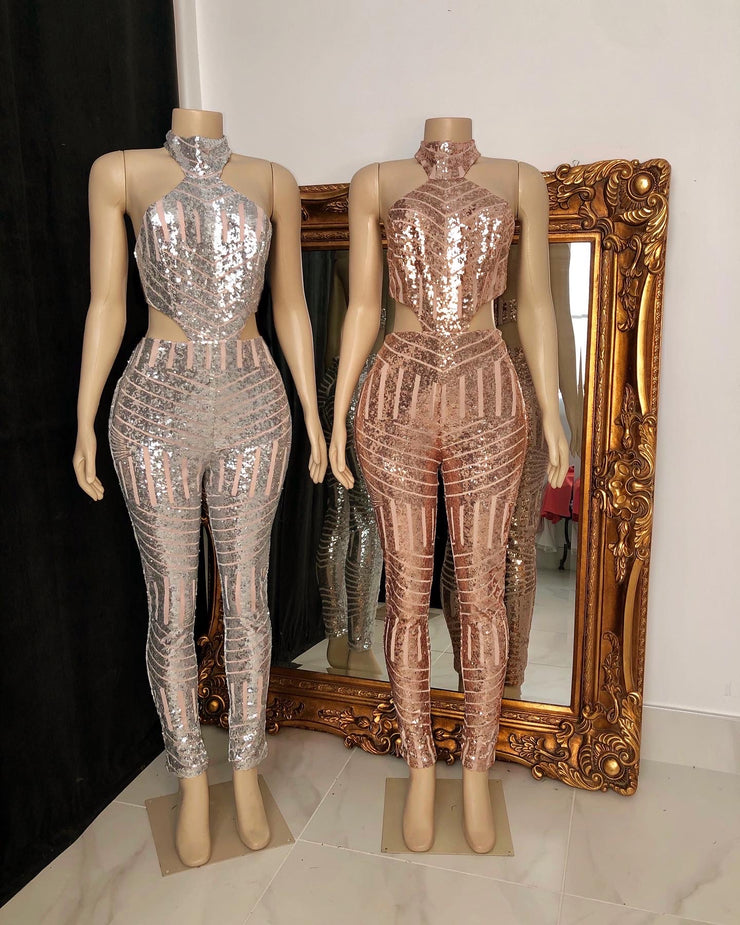 The MALLY Sequin Jumpsuit