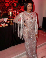 The QUEEN Rhinestone Gown (4413705322580)