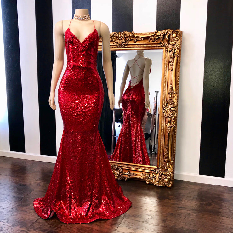 The MILLY Sequins Lace Gown (167327465478)