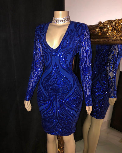 The AMY Sequins Dress (4440313757780)