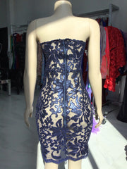 Sample: Navy Blue Lace Dress