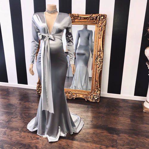 The JAYCE Maternity Satin Gown