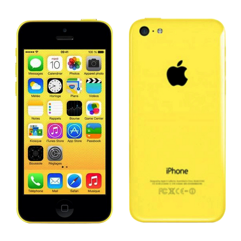 iPhone 5C 16 Go  jaune  Reconditionné