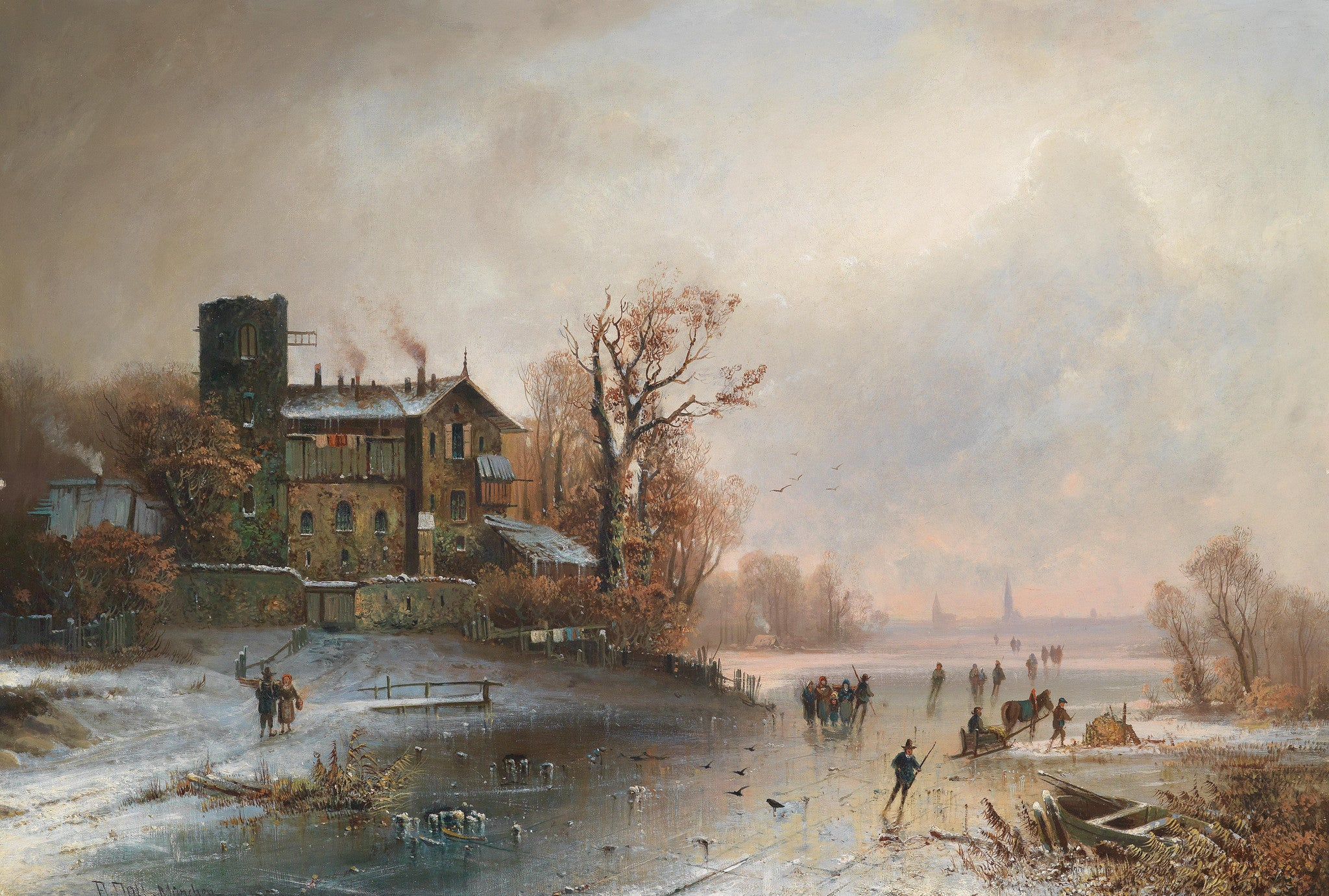 Homes and Antiques Magazine Feature our Dutch Winter Skating Scene
