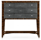 Faux Macassar Ebony and Anthracite Shagreen Bedside Chest of Drawers