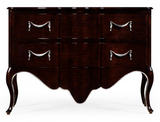 "52"" Black Eucalyptus Bombe Chest of Drawers"