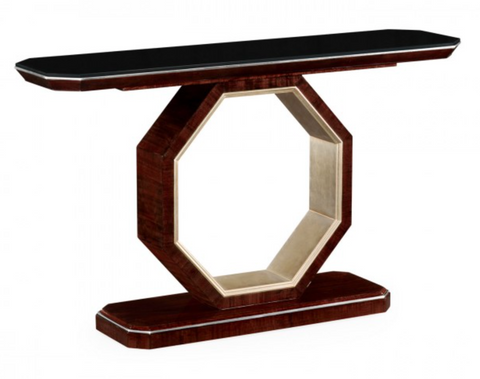 Black Eucalyptus Console Hall Table