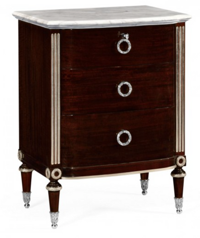Black Eucalyptus Bedside Chest of Drawers