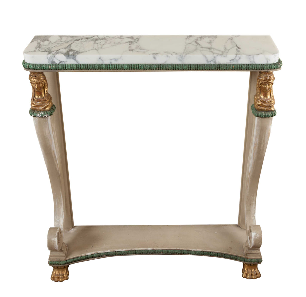 ON SALE - Painted Empire Console Table, Shabby Chic (France, c. 1815). SALE PRICE: