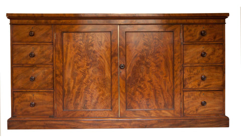 19th Century Antique Mahogany Cabinet Sideboard