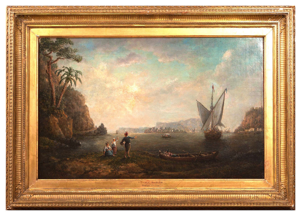 Oil on Canvas, Italian Landscape by William Marlow (British 1740-1813)