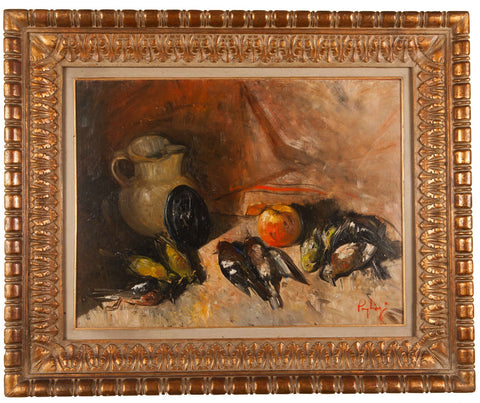 Oil on Canvas; Still Life Study by Francesco Pagliazzi (Italian 1910-1988)