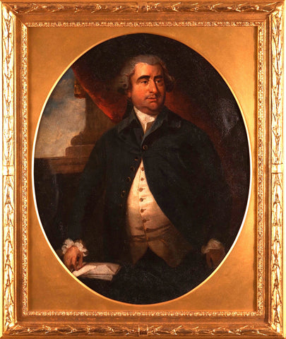 Antique Oval Oil Painting portrait of a Gentleman Joshua Reynolds