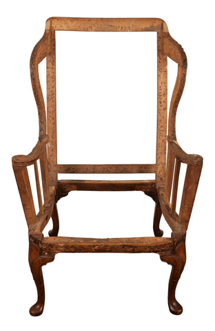 Superb Original Antique Queen Anne Wing Armchair, circa 1710.