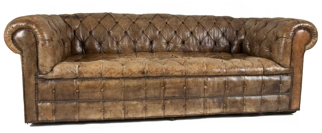 x SOLD : Distressed Chesterfield Sofa