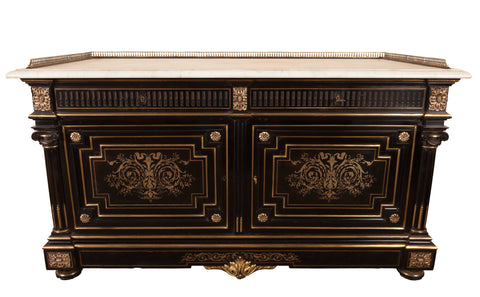 ON SALE - A Superb French Napoleon III Ebony and Gilt Mounted Commode. SALE PRICE: