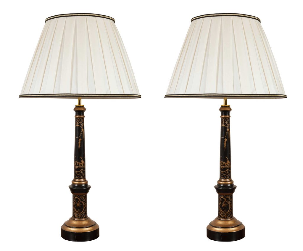 Pair of Modern Chinoiserie Style Table Lamps