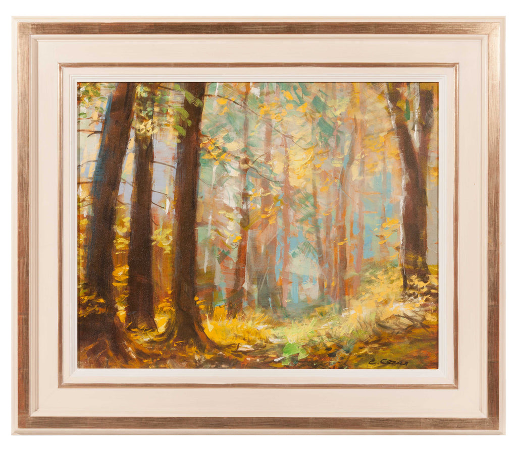 ON SALE - Oil on Canvas 'Autumn Morning Light' by Eugene Segal. SALE PRICE: