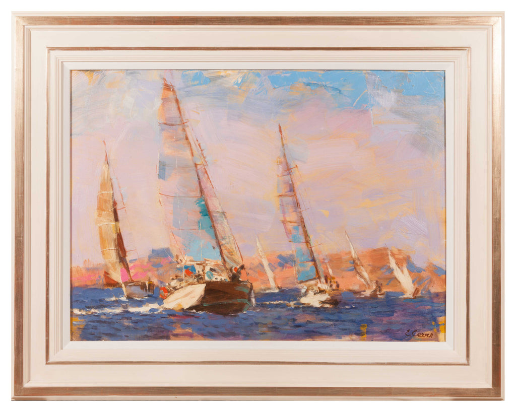 Oil on Canvas 'Yachting Scene' by Eugene Segal (i)