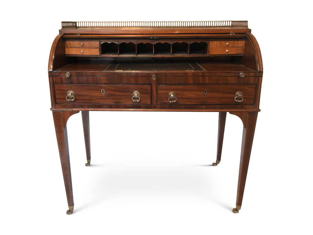 Writing Table,Desk, Late 19th Century Mahogany, Sheraton revival.