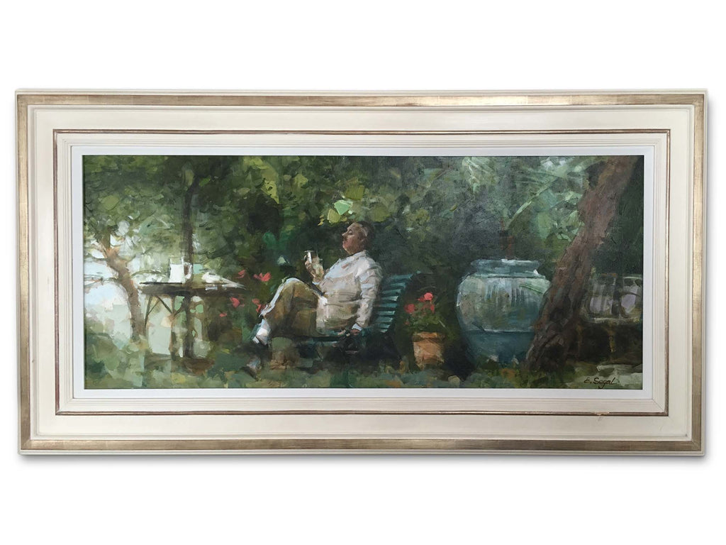 Oil on canvas by 'A Moments Repose' by Eugene Segal