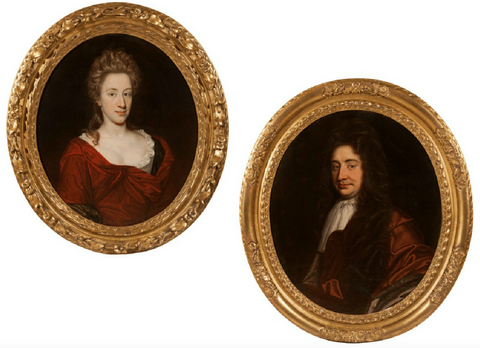 x SOLD : Fine Pair of Period Portraits attributed to John Closterman