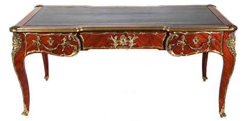 x SOLD : 19th Century French Kingwood Gilt Bronze Mounted Bureau Plat