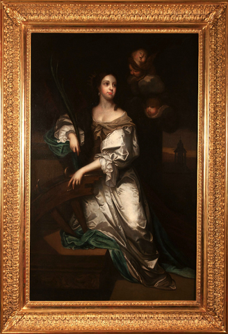 x SOLD : Full Length Portrait of Catherine of Braganza; studio of Jacob Huysmans